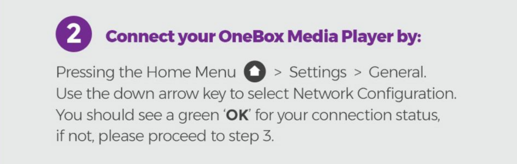 Connect OneBox - Step 2