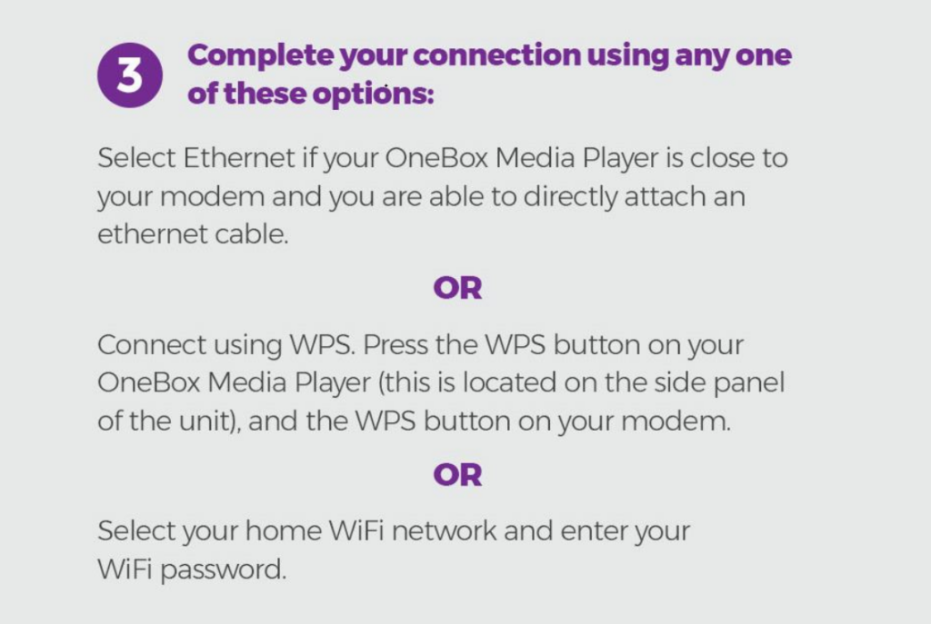 Connect OneBox - Step 3