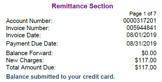 remittance section